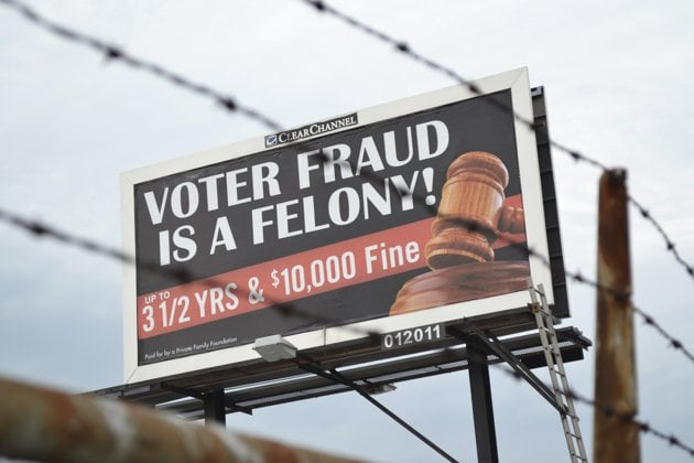 Voter Fraud Billboard