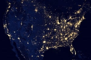 The-United-States-Of-America-At-Night-300x199