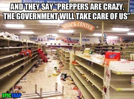 Can you picture empty store shelves?