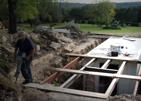 How This Man Converted Quot Underground Shelter Using A 20 Ft