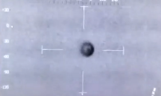 Screen capture of 'invisible UFO' filmed by South Wales police using thermal imaging