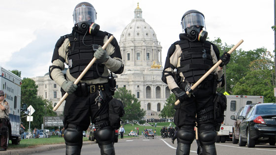 """""""Enforcement"""" Outnumbers Protestors At The Capitol Before Inaguration"""