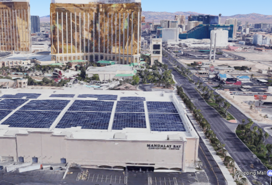 The Mandalay Bay Convention Center. (Screenshot via Google Maps)