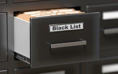 Blacklisted Sites List