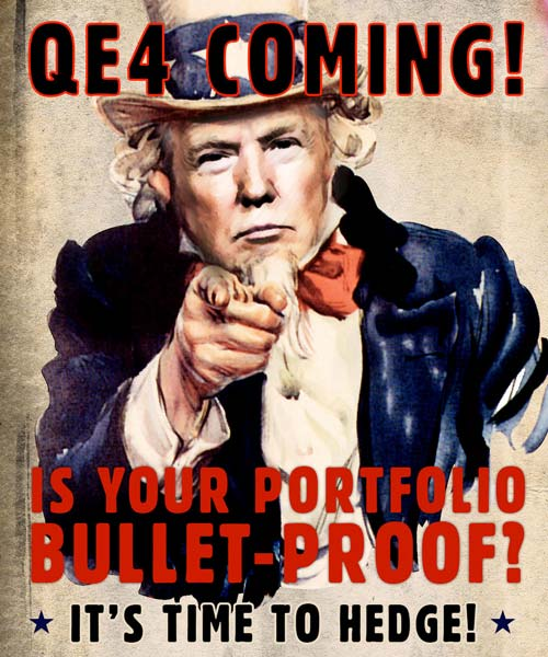Crush The Street - QE4 Coming! Is Your Portfolio Bullet-Proof?