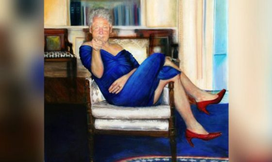 Epstein Had A Painting Of Bill Clinton In A Dress And Heels