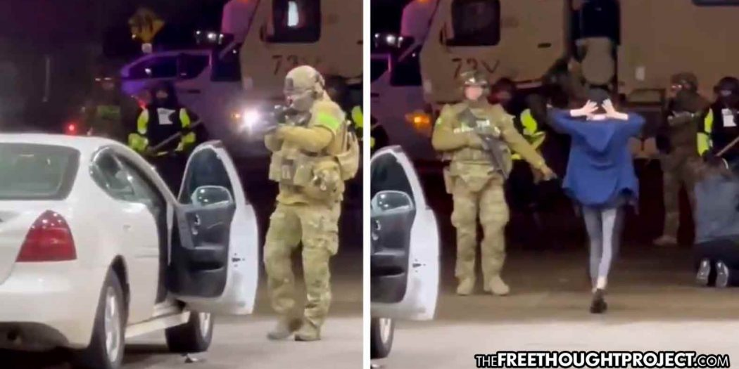"""""""This is Martial Law""""—US Soldiers Force Women from Car at Gunpoint for Pumping Gas Past Curfew"""